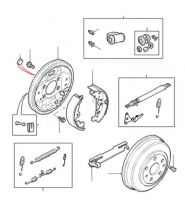 Rear Brake Drums, Shoes & Cylinders from VIN 1A000001